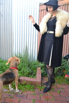 Hangin with Busby (look at her stockings! Indie Outfits, 60s Mod, Vintage Glamour, Dress Codes, Alternative Fashion, My Outfit, Vintage Inspired, Retro, Fur Coat