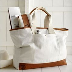 Canvas with Leather Tote @markandgraham