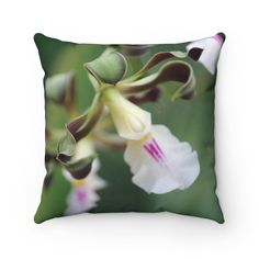 Monkey Orchid Square Pillow Case