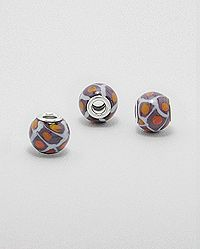 Colored glass bead with a sterling silver core. Wholesale Beads, Colored Glass, Glass Beads, Silver Jewelry, Core, Cufflinks, Stud Earrings, Sterling Silver, Accessories