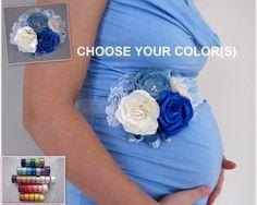 It's a Boy Maternity Sash Blue Maternity Photo by LovelyMadeGifts, $39.99