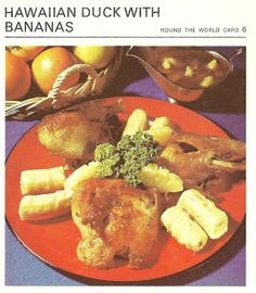Bananas are made to be eaten plain or in banana pudding or other desserts.  Not with meat.