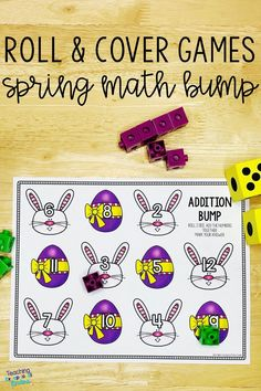 These fun math bump game boards will keep your kindergarten students engaged in guided math stations.  Roll and cover dice games are a simple way to practice basic addition and subtraction facts and to build a strong number sense.  Kids will love learning to subitize with these printable activities! Learn more about how to use these games to differentiate your math centers! #dicegames #mathgames Fun Math, Math Games, Dice Games, Numbers Kindergarten, Kindergarten Activities, Guided Math Stations, 2nd Grade Classroom, Addition And Subtraction, Math Resources
