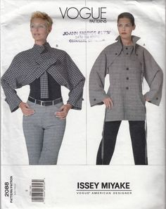 74057a47731 Misses  Issey Miyake Jacket in 2 Styles Size 8 Vogue Designer Original 2088
