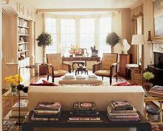 wonderfully light and cozy library--designer: Timothy Whealon