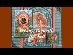 Beneath The Sea, Mini Album Tutorial, Graphic 45, Mini Albums, Album Covers, Scrap, Youtube, Tutorials, Art