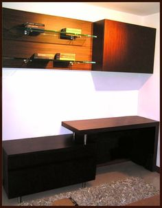 Acabados & Formas Corner Desk, Furniture, Home Decor, Libraries, Shapes, Wood, Home, Corner Table, Decoration Home