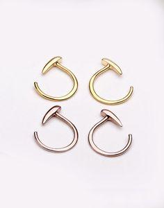 Lunai Jewelry Tiny Tusk Hugging Hoops! $24 / pair