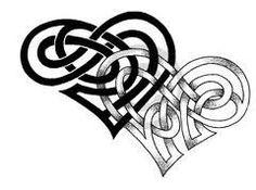 Interlocking celtic hearts