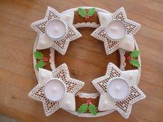 Wooden Christmas Trees, Christmas Ornaments, Royal Icing, Advent, Xmas, Holiday Decor, Halloween, Diy, Cookies