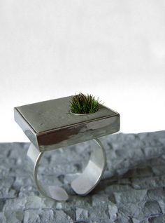 Set in Cement Square Ring - Walker Shop  adorn jewelry  'Set in Concrete' line of jewelry is sold exclusively at the Walker Shop