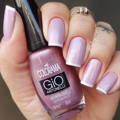 New Fails Art French Couleur Ideas Fabulous Nails, Gorgeous Nails, Pretty Nails, Fun Nails, Elegant Nails, Stylish Nails, Nail Deco, Nail Pops, Manicure Y Pedicure