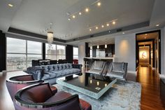 Four Seasons Residence - contemporary - Living Room - Austin - R Designs by Jane Reece