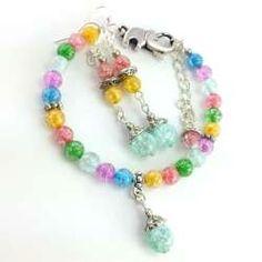 Zestaw biżuterii z kamieniami naturalnymi- kolorowego kwarcu lodowego.
