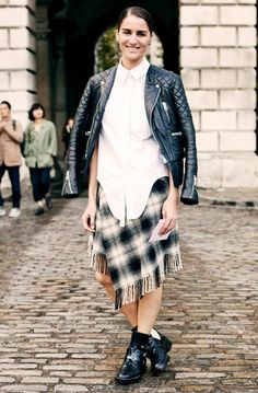 How to Style a Plaid Fringe Wrap Skirt