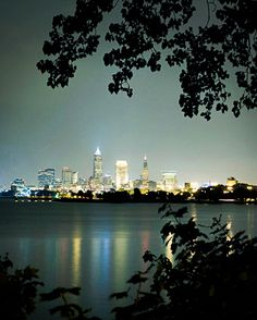 Downtown Cleveland skyline view from Lake Erie Cleveland City, Cleveland Skyline, Cleveland Rocks, Cleveland Heights, The Buckeye State, Ohio Usa, Lake Erie, Nyc, Best Location