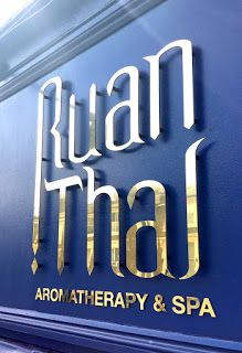 Sign makers in London: Ruan Thai - Aromatherapy and Spa Salon Signage in ...