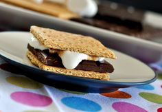 {S'Mores with Chocolate Bars from Josh Early Candies} #summer