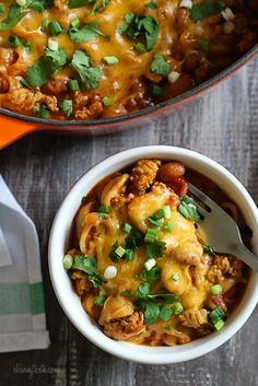 One Pot Cheesy Turkey Taco Chili Mac