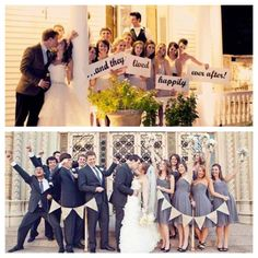 Love both of these bridal party shots…so fun!
