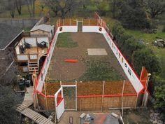 Is this Canada's best backyard rink? Outdoor Hockey Rink, Backyard Hockey Rink, Backyard Ice Rink, Backyard Sports, Outdoor Ice Skating, Backyard Patio, Hockey Room, Hockey Training, Hockey Memes