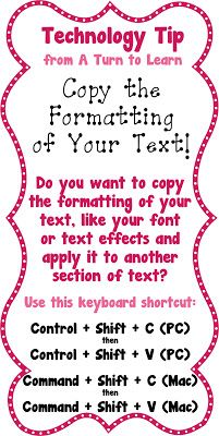 A Turn to Learn: Copy Your Text's Formatting
