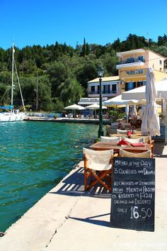 photo from Lakka Menu of the day; photo from Lakka, PaxosMenu of the day; photo from Lakka, Paxos Paxos Greece, Mykonos Greece, Crete Greece, Athens Greece, Corfu, Places Around The World, Around The Worlds, Paxos Island, Places To Travel