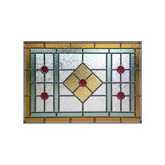 ARTDECOGLASS2 Stained and Leaded Glass Art Deco Style Window Custom... ❤ liked on Polyvore