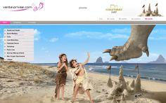 Siguiendo las aventuras de la familia prehistórica de VP summer camp en vente-privee. ¡Vamos a la playa!  #venteprivee #playa #webdesign #VPSummerCamp