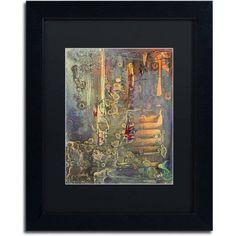 Trademark Fine Art Into The Dark Canvas Art by Pat Saunders-White, Black Matte, Black Frame, Size: 16 x 20, Orange