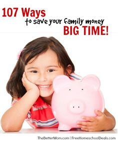Most of us are forever on the look-out for additional ways to save our family money. Here are over 107 ways to save your family money – BIG time! Ways To Save Money, Money Tips, Money Saving Tips, Saving Ideas, Show Me The Money, Financial Tips, Financial Peace, Budgeting Money, Best Investments