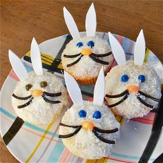 Easter Bunny Cupcakes  http://blogs.babble.com/family-kitchen/2011/04/18/easter-bunny-cupcakes-an-adorable-easter-recipe-idea/