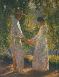 Lovers   Henri Martin ~ French Post-Impressionist painter   Tutt'Art@   Pittura * Scultura * Poesia * Musica  