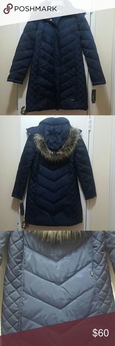 Brand new Women's coat by Kenneth Cole. Really nice women's Kenneth Cole coat, in a nice navy blue color.  Brand new with tags, feel free to ask any questions. Happy poshing ?? Kenneth Cole Reaction Jackets & Coats
