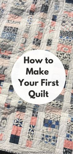 Learn to quilt with me! Complete with a shopping list for basic supplies to get you started.