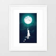 What do you call an art print that's an homage to the moon and totally whimsical? A moonsical print, that's what. This piece of art has a luminous quality while still evoking the mystery and enigma of ...  Find the Moonsical Art Print, as seen in the To the Moon and Back Collection at http://dotandbo.com/collections/to-the-moon-and-back?utm_source=pinterest&utm_medium=organic&db_sku=SO60142