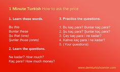 1 Minute Turkish Lesson: How to ask the price in Turkish