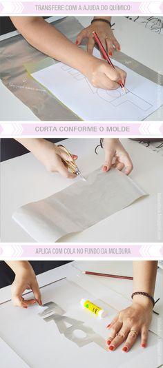 IDEIA // MOLDURA LOVE #DIY #LOVE #FRAME