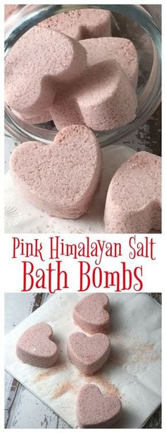 Pink Himalayan Salt is a wonderful source of nutrients - combine with a few other ingredients to make these easy bath bombs!
