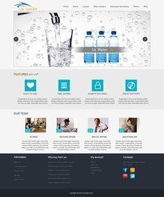 Aqua Water Templates at buycmstemplate.com