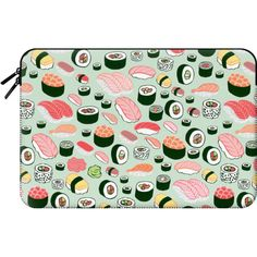 Sushi Forever! - Macbook Sleeve (€55) ❤ liked on Polyvore featuring accessories, tech accessories and macbook sleeve