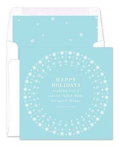 Winter Border Greeting Cards - Real Simple (finestationery.com)