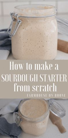 How to make a sourdough starter from scratch. Baking sourdough bread is easy and healthy.
