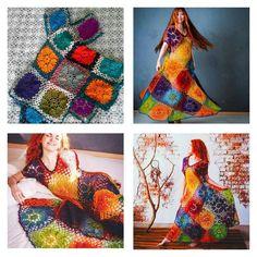 So abartig, dass es schon wieder gut ist. Hippie Crochet, Freeform Crochet, Crochet Art, Crochet Granny, Crochet Flowers, Crochet Hooks, Free Crochet, Crochet Squares, Crochet Blanket Patterns