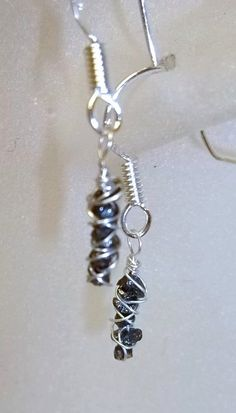 A Dozen Diamonds Wrapped to go Earrings by Created2Inspire on Etsy, $65.00