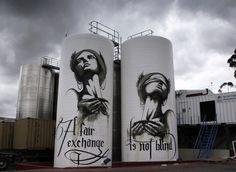 Faith 47 - street art - a fair exchange is not blind