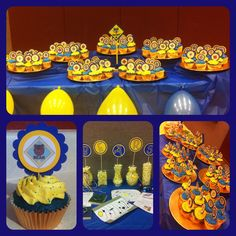 Cub Scout Cupcake Toppers Blue & Gold Banquet
