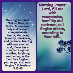 Morning Scripture and Prayer