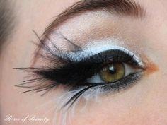 ~eye makeup for swan costume~  Roses of Beauty: Black Swan