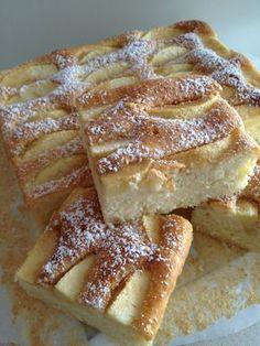 Quick Yogurt Cake with Apples Dessert Cake Recipes, Sweets Cake, Cookie Desserts, Dessert Bars, Cheesecake Recipes, Cupcake Cakes, Polish Desserts, Polish Recipes, Lady Laura